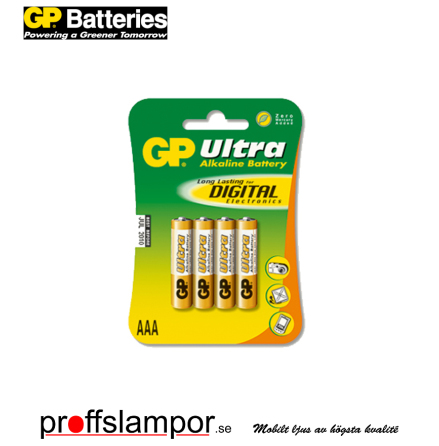 Batteri GP Ultra Alkaline LR03 AAA 4 pack