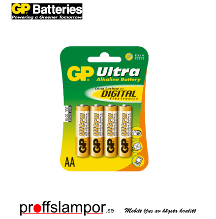 Batteri GP Ultra Alkaline LR6 AA 4 pack