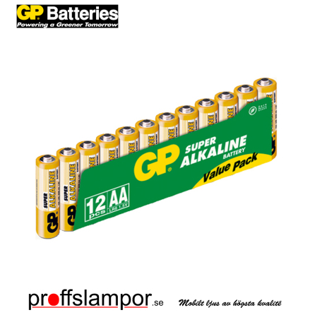 Batteri GP Super Alkaline LR6 AA 12 pack