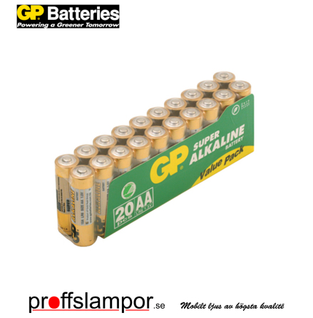 Batteri GP Super Alkaline LR6 AA 20 pack