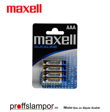 Batteri Maxell Alkaline LR03 AAA 4 pack