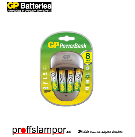 Batteriladdare GP PowerBank 2600 2600mAh AA NiMH