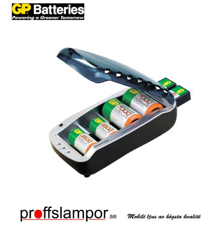Batteriladdare GP PowerBank Universal AA/AAA/C/D/9V