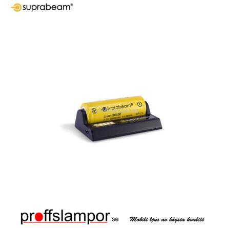 Tillbehör Batteriladdare Suprabeam 18650