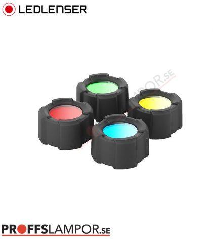 Tillbehör Ledlenser färgfilterset 39 mm
