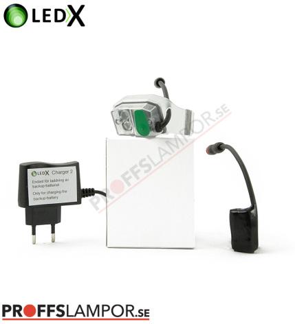 Tillbehör Backupljus LEDX batteri och laddare