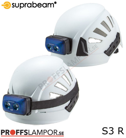 Hjälmlampa Suprabeam S3 rechargeable