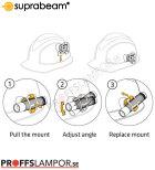 Tillbehör Hjälmhållare Suprabeam Q3/Q7