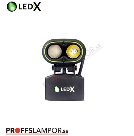 Hjälmlampa LEDX KAA 2000 wide komplett