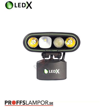Hjälmlampa LEDX Mamba 4000 X-pand 75Wh