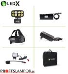 Pannlampa LEDX Cobra 6500 X-pand backupbatteri