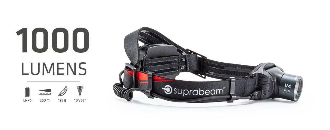 Suprabeam pannlampa V4pro rechargeable
